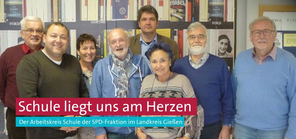 Der Arbeitskreis Schule in der SPD-Fraktion: Klaus-Dieter Gimbel, Norman Speier, Elke Högy, Hans-Jürgen Becker, Matthias Körner, Roswitha Lorenz, Karl-Heinz Funck und Gerhard Schmidt.