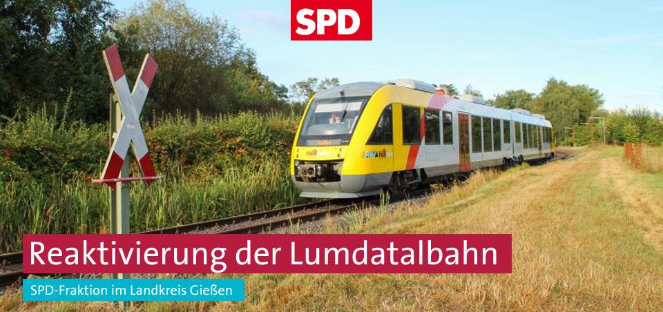 Die SPD-Fraktion im Landkreis Gießen setzt sich erfolgreich für die Reaktivierung der Lumdatalbahn ein. Foto: Gregor Atzbach, www. bienenschuss.de.